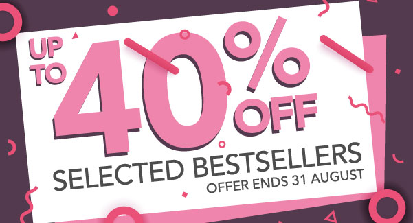 Hurry! Up to 40% Off Huge Bestsellers